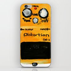 Guitar Distortion Pedal Acrylics On Paper (White Edit) iPhone & iPod Skin