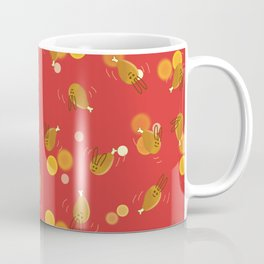Dancing Drumstick with Rabbit Face No.1 Coffee Mug