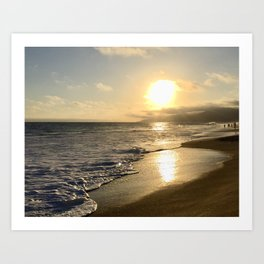 Cali Beach Sunset Art Print