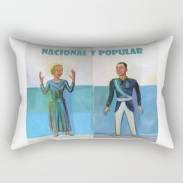 Evita y Juan Perón. Nacional y popular. Rectangular Pillow