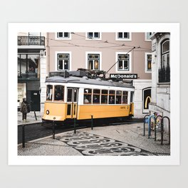 Yellow Tram 2.0 Art Print