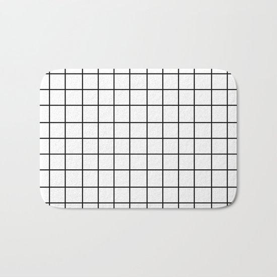 Grid (Black/White) Bath Mat