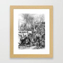 Follow the white rabbit Framed Art Print