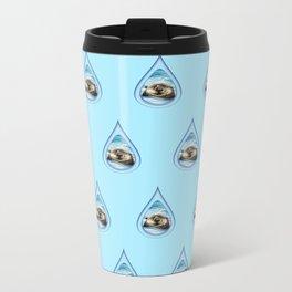 Sea Otter Drip Pattern Metal Travel Mug
