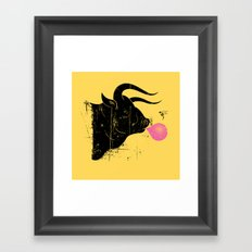 The Bull & The Bee Framed Art Print