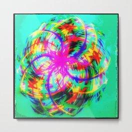 Braid colors - rotation colorful Metal Print