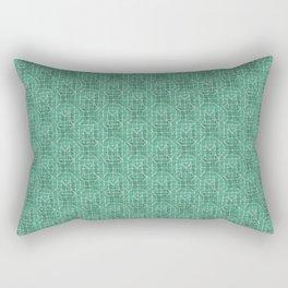 Teal Attica print Rectangular Pillow
