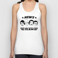 anchorman Tank Tops featuring news team - the anchorman by Buby87