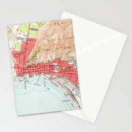 Vintage Map of Ventura California (1951) Stationery Cards