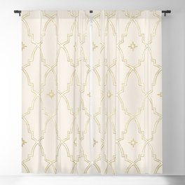 Celestial Pearl Gilded Arches Blackout Curtain