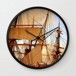 FULL STEAM AHEAD Wall Clock