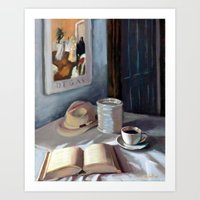 degas Art Prints featuring Coffe with Degas by Anthony Bordelon