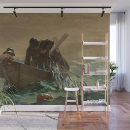The Herring Net - George's Bank, New England maritime landscape by Winslow H-o-m-e-r Wall Mural
