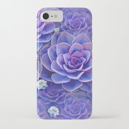 """Bouquet of pastel violet exotic succulents"" iPhone Case"