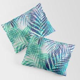 Palm Leaves - Indigo Green Pillow Sham