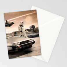 2 Stormtrooopers in a Hover DeLorean  Stationery Cards