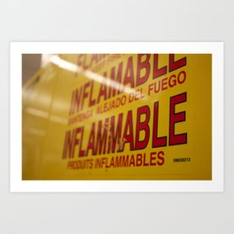 Flammable  Art Print