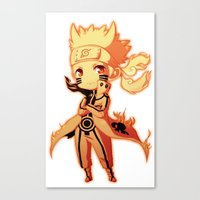 naruto Canvas Prints featuring Naruto  by WTFmoments