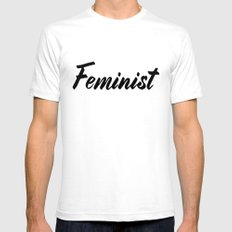 Feminist (on white) Mens Fitted Tee White SMALL