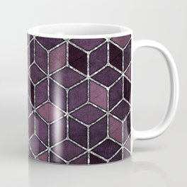 Shades Of Purple & Pink Cubes Pattern Coffee Mug