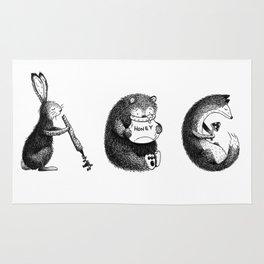 Woodland Animals (ABC) Rug