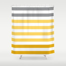 Stripes Gradient - Yellow Shower Curtain