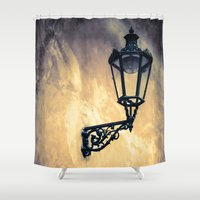 lantern Shower Curtains featuring Lantern by Maria Heyens