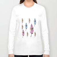 feathers Long Sleeve T-shirts featuring Feathers by 83 Oranges™