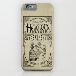 Dr. Schwindler's Original Hemlock Elixir iPhone Case