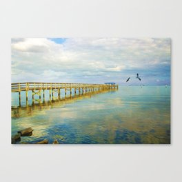 Ocean Pier at Dusk Canvas Print