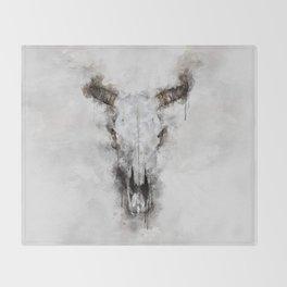 Animal skull Throw Blanket