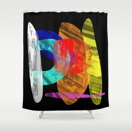 Pastel Pieces - Abstract, pastel artwork Shower Curtain