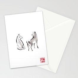Two Shiba Inu Couple Stationery Cards
