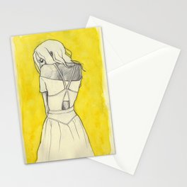 Self in Yellow Stationery Cards