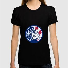 American Cable Installer USA Flag Icon T-shirt