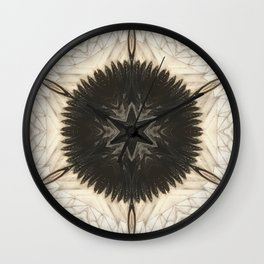 Quartz and Feather // Magical Visionary Shamanic Art Crystal Grid Energy Healing Peace Sacred Star Wall Clock