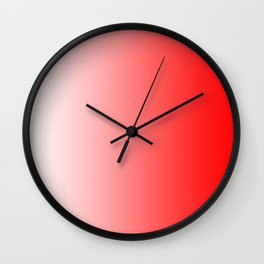 White and Red Gradient 022 Wall Clock