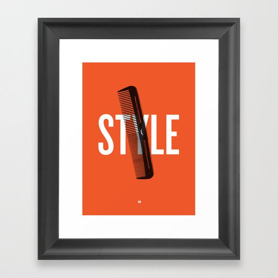Barbershop Design Ethos / Style Framed Art Print