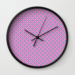 Origami Stars - Pale Red Wall Clock