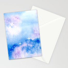 Second Star to the Right - Galaxy Stationery Cards