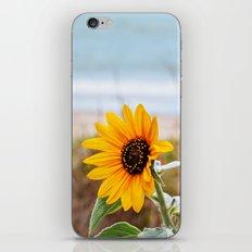Sunflower near ocean iPhone Skin