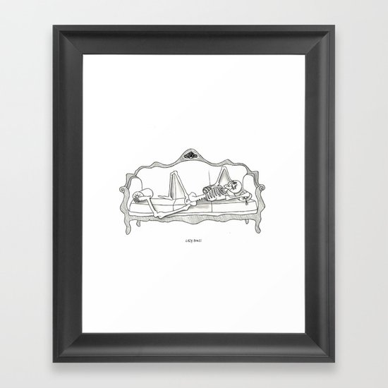 Lazy Bones Framed Art Print