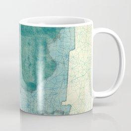 Florida State Map Blue Vintage Coffee Mug