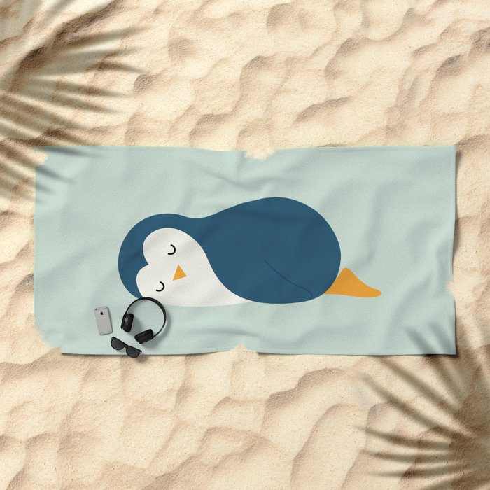 Little Blue Beach Towel
