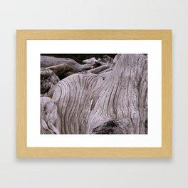 zen driftwood Framed Art Print