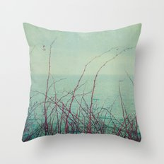 She Would Float and Stare at the Sky Throw Pillow