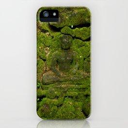 go green - moss buddha iPhone Case