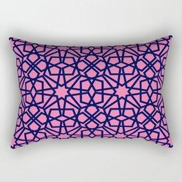 Whisper Pink Geometric Pattern Rectangular Pillow