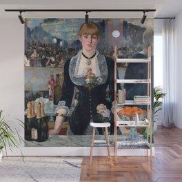 "Édouard Manet ""A Bar at the Folies-Bergère"" Wall Mural"