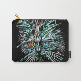 Odd-Eyed White Glowing Cat Carry-All Pouch